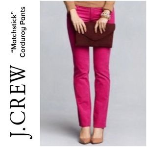 "J. CREW Corduroy skinny Pants ""Matchstick"""